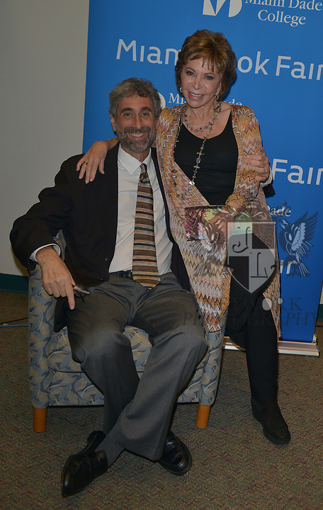 MIAMI, FL - NOVEMBER 15: Isabel Allende (R) and Mitchell Kaplan attend The Miami Book Fair at Miami Dade College Wolfson - Chapman Conference Center on November 15, 2017 in Miami, Florida. ( Photo by Johnny Louis / jlnphotography.com )