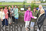Glenbeigh Community Council presenting the prizes for the best kept estates, private houses and businesses during the year, l-r: Margaret Joy (C. Council), Irene Brosnan (Business Winner), Joan Connors (C. Council), Margaret and Marian Riordan (Best Estate - Sea View), Vera O'Sullivan (C. Council), Grace and John Winston (Best Private House) and Sabine Libuda (adjudicator).