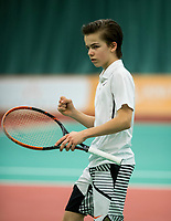The Hague, The Netherlands, March 17, 2017,  De Rhijenhof, NOJK 14/18 years, Stian Klaassen (NED)<br /> Photo: Tennisimages/Henk Koster