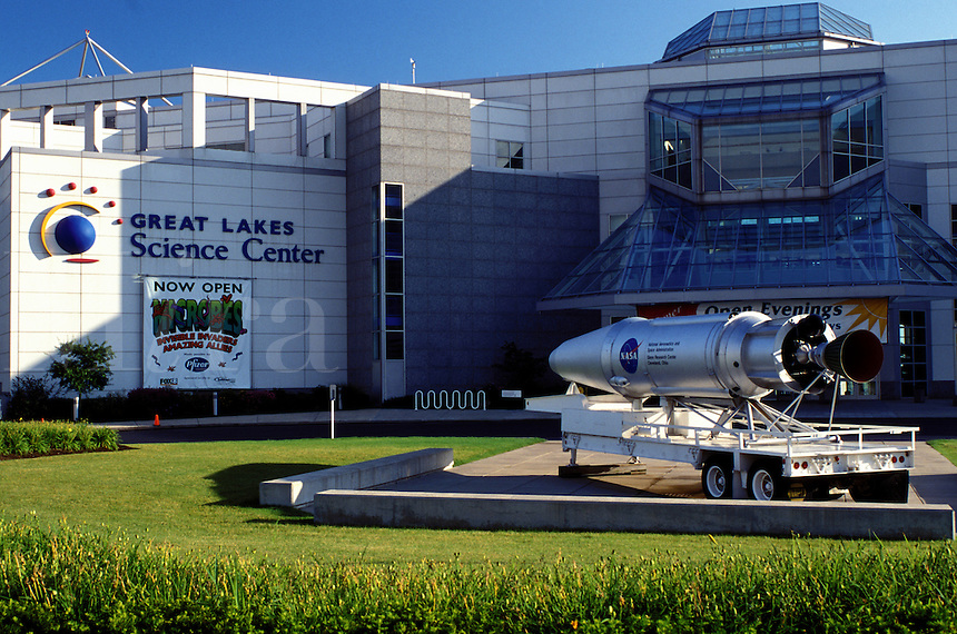 science center, Cleveland, OH, Ohio, Great Lakes Science Center and OMNIMAX theater.