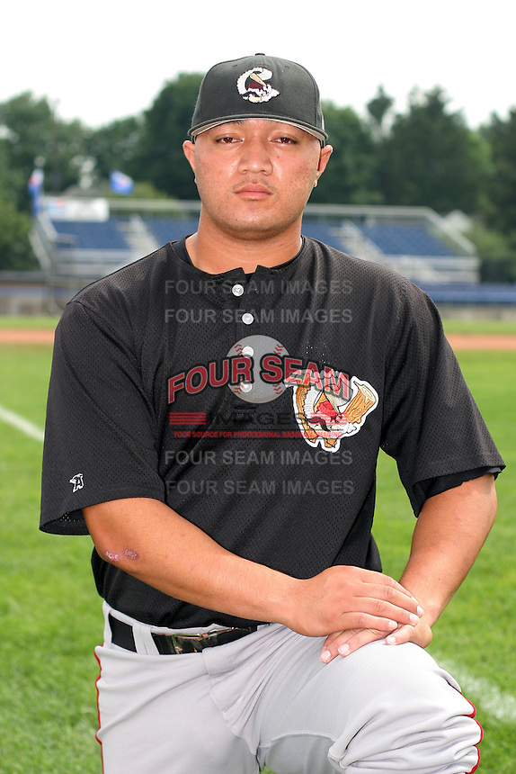 Williamsport Crosscutters Francis Poni poses for a photo before a NY-Penn League game at Dwyer Stadium on July 3, 2006 in Batavia, New York.  (Mike Janes/Four Seam Images)