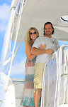 OLTL Susan Haskell and Thorsten Kaye takes a break on Blondi, Marco Island at SoapFest's Celebrity Weekend - Cruisin' and Schmoozin' on the Marco Island Princess - mix and mingle and watching dolphins - autographs, photos, live auction raising money for kids on November 11, 2012 Marco Island, Florida. (Photo by Sue Coflin/Max Photos)