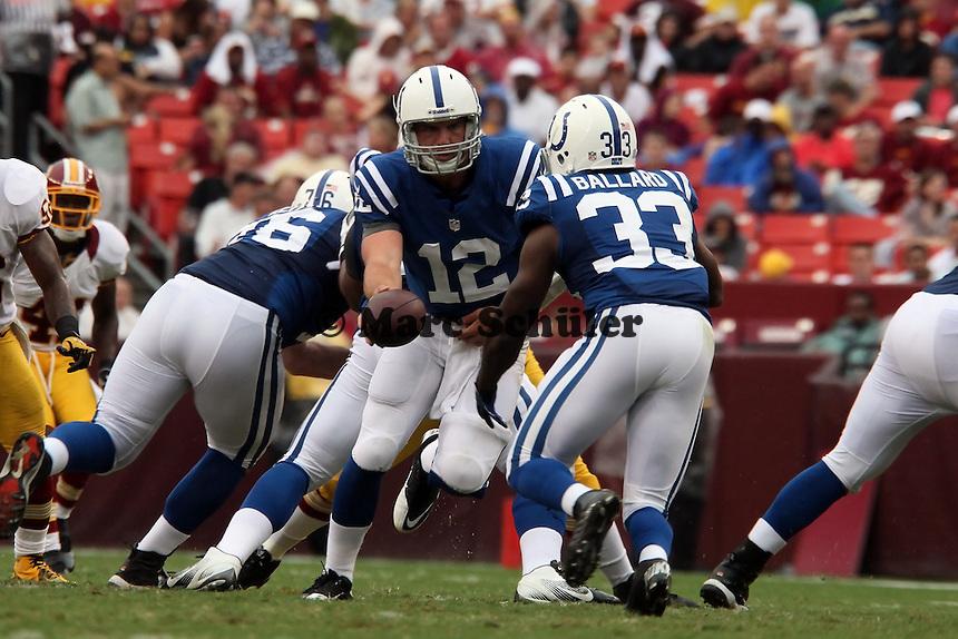 QB Andrew Luck mit RB Vick Ballard (Colts)