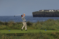 Aaron Grant (Dundalk) on the 4th tee during Matchplay Round 1 of the South of Ireland Amateur Open Championship at LaHinch Golf Club on Friday 22nd July 2016.<br /> Picture:  Golffile | Thos Caffrey<br /> <br /> All photos usage must carry mandatory copyright credit   (© Golffile | Thos Caffrey)