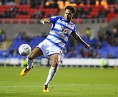 30th September 2017, Madejski Stadium, Reading, England; EFL Championship football, Reading versus Norwich City; Liam Moore of Reading has a late chance at goal