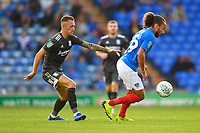 Mark Harness of Portsmouth right shields the ball from Charlie Lakin of Birmingham City during Portsmouth vs Birmingham City, Caraboa Cup Football at Fratton Park on 6th August 2019