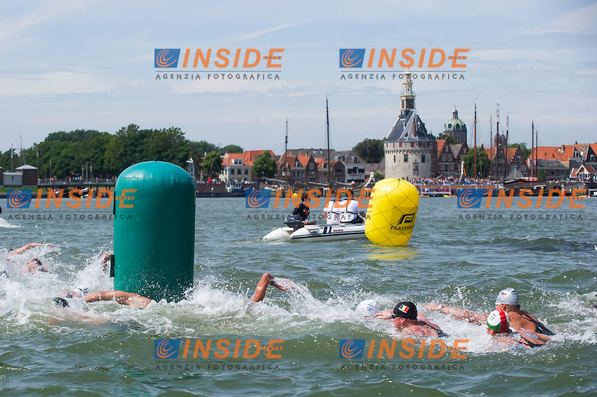 Race<br /> Hoorn, Netherlands <br /> LEN 2016 European Open Water Swimming Championships <br /> Open Water Swimming<br /> Men's 10km<br /> Day 01 10-07-2016<br /> Photo Giorgio Perottino/Deepbluemedia/Insidefoto