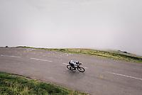 Egan Bernal Gomez (COL/SKY) coming down the last climb of the 2018 Tour: the Col d'Aubisque (HC/1709m/16.6km@4.9%)<br /> <br /> Stage 19: Lourdes &gt; Laruns (200km)<br /> <br /> 105th Tour de France 2018<br /> &copy;kramon