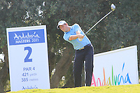 David Howell (ENG) during the final day of the  Andalucía Masters at Club de Golf Valderrama, Sotogrande, Spain. .Picture Denise Cleary www.golffile.ie