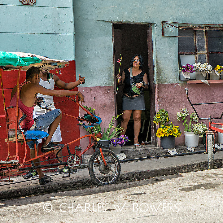 Faces Of Cuba - Flowers are universal.<br />