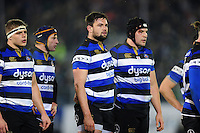 Elliott Stooke of Bath Rugby look on prior to a scrum. Aviva Premiership match, between Bath Rugby and Northampton Saints on February 10, 2017 at the Recreation Ground in Bath, England. Photo by: Patrick Khachfe / Onside Images