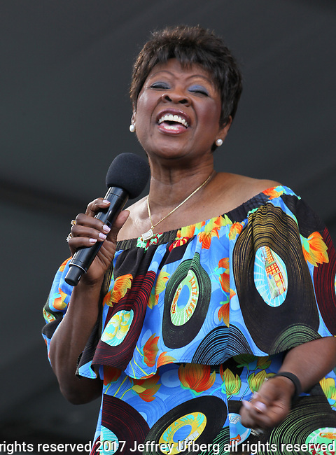 May 6, 2017 New Orleans, La. Singer Irma Thomas performs at the New Orleans Jazz & Heritage Festival on May 6, 2017 in New Orleans, La