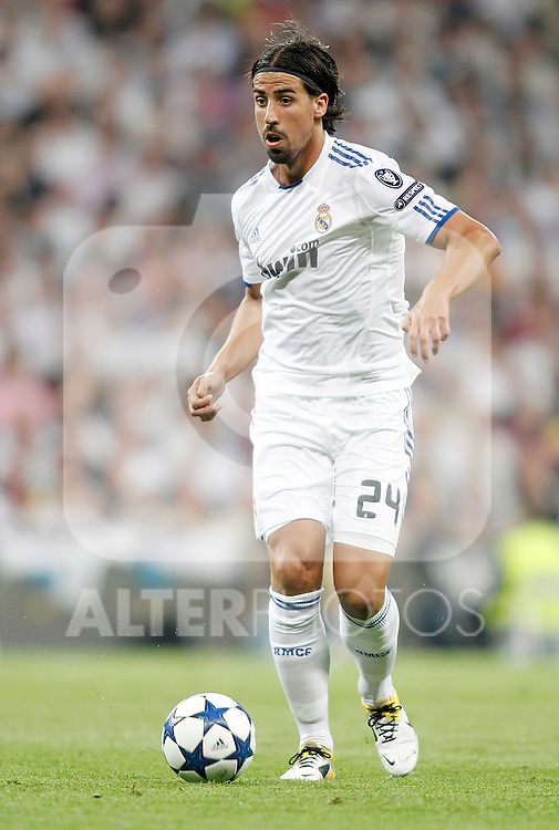 Real Madrid's Sami Khedira during Champions League Match. April 05, 2011. (ALTERPHOTOS/Alvaro Hernandez)
