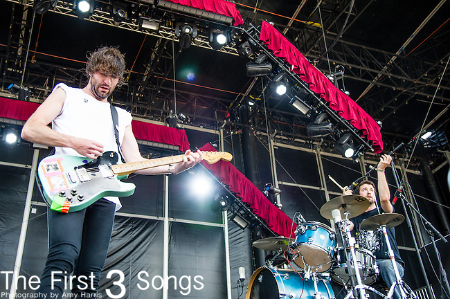 Brian King and David Prowse of Japandroids perform during Day 2 of the 2013 Firefly Music Festival in Dover, Delaware.