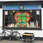 Hemp in Avalon cannabis shop, Glastonbury, Somerset, England