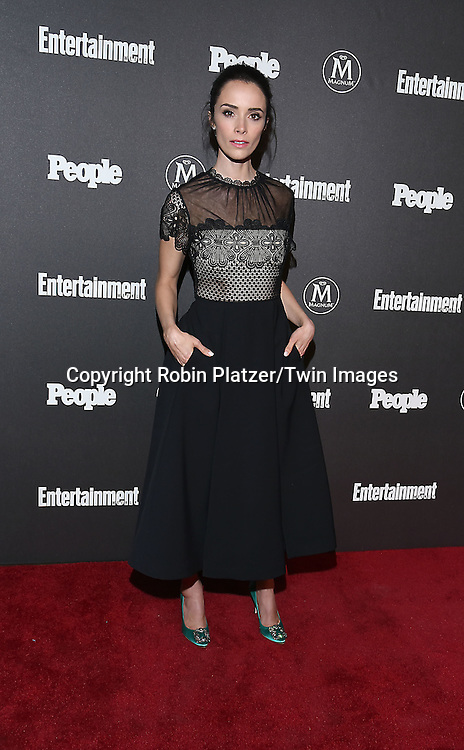 Abigail Spencer of &quot;Time&quot; attends the Entertainment Weekly &amp; PEOPLE Magazine New York Upfronts Celebration on May 16, 2016 at Cedar Lake in New York, New York, USA.<br /> <br /> photo by Robin Platzer/Twin Images<br />  <br /> phone number 212-935-0770