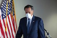 United States Senator Mitt Romney (Republican of Utah) departs GOP policy luncheons on Capitol Hill in Washington D.C., U.S., on Tuesday, June 9, 2020.  Credit: Stefani Reynolds / CNP/AdMedia