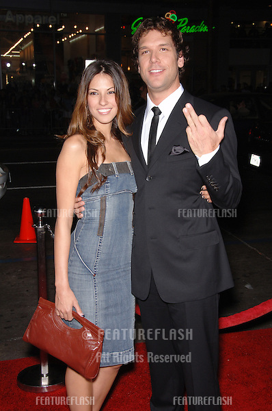 "Actor DANE COOK & date RAQUEL HOUGHTON at the Los Angeles premiere for his new movie ""Employee of the Month"" at the Grauman's Chinese Theatre, Hollywood..September 19, 2006  Los Angeles, CA.© 2006 Paul Smith / Featureflash"