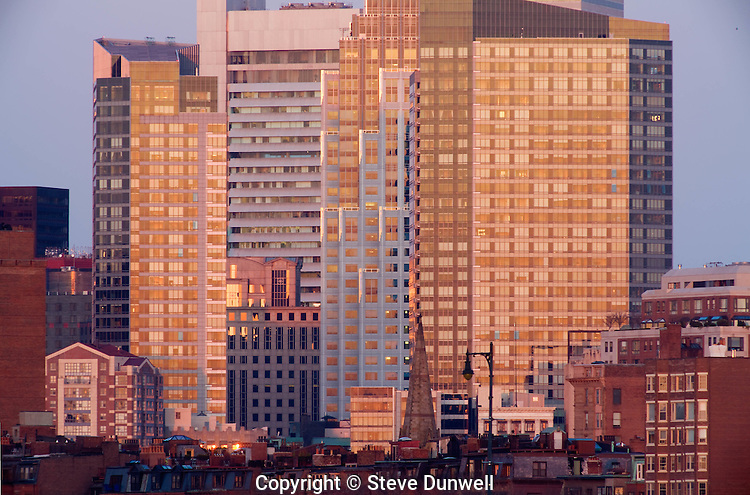 Millenium place skyline from MIT boathouse deck, Boston, MA 600mm