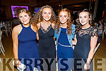 Annie Moriarty, Muireann Walsh, Orla O'Connor and Muireann Rahilly attending the Scartaglin LGFA 30th Anniversary social in the Ballygarry House Hotel on Saturday.