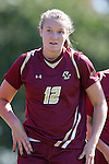 26 October 2014: Boston College's Jana Jeffrey. The Duke University Blue Devils hosted the Boston College University Eagles at Koskinen Stadium in Durham, North Carolina in a 2014 NCAA Division I Women's Soccer match. Duke won the game 2-1 in overtime.