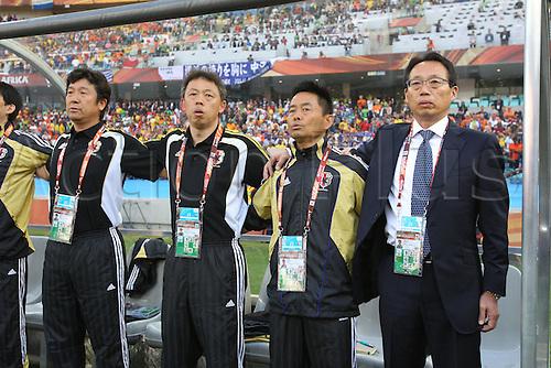 cj/Takeshi Okada (JPN), .JUNE 19, 2010 - Football : .2010 FIFA World Cup South Africa .Group Match -Group E- .between Netherlands 1-0 Japan .at Durban Stadium, Durban, South Africa. .