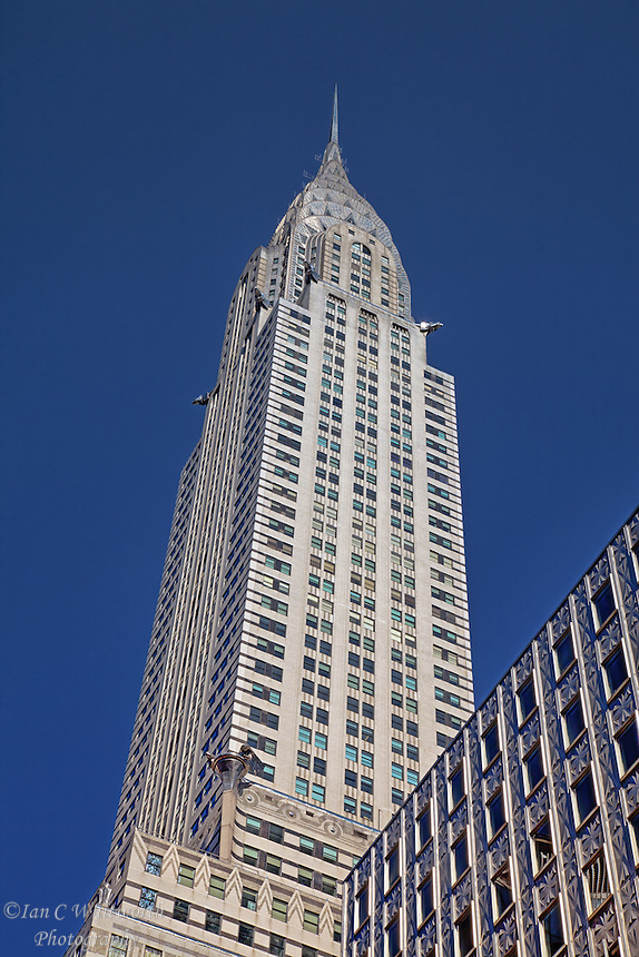 Looking up at the Chrysler Building in NYC.