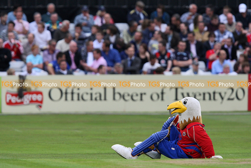 Essex mascot Eddie the Eagle relaxes before start of play - Essex Eagles vs Middlesex Panthers - Twenty 20 Cricket at the Ford County Ground, Chelmsford, Essex -  22/06/09 - MANDATORY CREDIT: Gavin Ellis/TGSPHOTO - Self billing applies where appropriate - Tel: 0845 094 6026