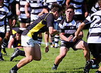 Action from the 2017 Hurricanes Youth Council Under-16 Tournament match between Wellington and Hawkes Bay at Wanganui Collegiate in Wanganui, New Zealand on Tuesday, 3 October 2017. Photo: Dave Lintott / lintottphoto.co.nz