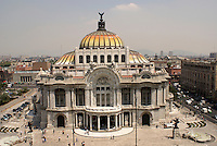 The Palacio de Bellas Artes or Fine Arts Palace in Mexico City.