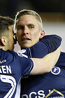 GOAL - Steve Morison of Millwall is mobbed after making it 1-0 during the Sky Bet Championship match between Millwall and Queens Park Rangers at The Den, London, England on 29 December 2017. Photo by Carlton Myrie / PRiME Media Images.
