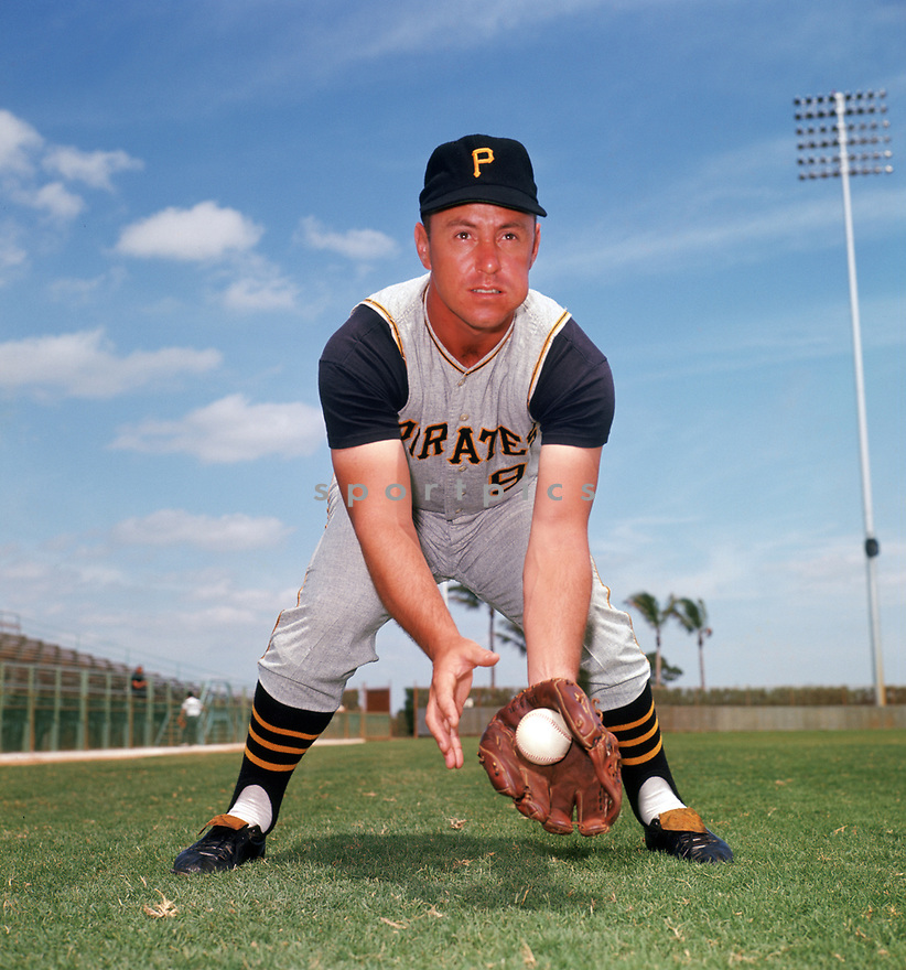 Pittsburgh Pirates Bill Mazeroski (9) portrait  from his 1964 season. Bill Mazeroski played for 17 seasons, all with the Pittsburgh Pirates, was a 10-time All-Star and inducted to the Baseball Hall of Fame in 2001.<br /> (SportPics)