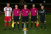 Pre-match line up during Stevenage vs Brighton & Hove Albion Under-21, Checkatrade Trophy Football at the Lamex Stadium on 7th November 2017