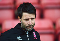 Lincoln City manager Danny Cowley during the pre-match warm-up<br /> <br /> Photographer Andrew Vaughan/CameraSport<br /> <br /> The EFL Sky Bet League Two - Crewe Alexandra v Lincoln City - Wednesday 26th December 2018 - Alexandra Stadium - Crewe<br /> <br /> World Copyright &copy; 2018 CameraSport. All rights reserved. 43 Linden Ave. Countesthorpe. Leicester. England. LE8 5PG - Tel: +44 (0) 116 277 4147 - admin@camerasport.com - www.camerasport.com