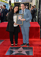 LOS ANGELES, CA. January 22, 2019: Gustavo Dudamel & Rana Ghadban at ceremony where conductor Gustavo Dudamel received a star on the Hollywood Walk of Fame.<br /> Picture: Paul Smith/Featureflash