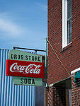Sign on store, Brookfield, Missouri, USA