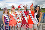 Boston & New England Rose Deirdre Buckley, Melbourne Rose Christine Mcgrattan, Kerry Rose Gemma Kavanagh, Queensland Rose Sorcha Holmes, South Australia Rose Louise Thompson and Southern California Rose Laura Rose Walsh on a visit to Tralee Bay Wetlands during the Rose of Tralee Festival on Friday.