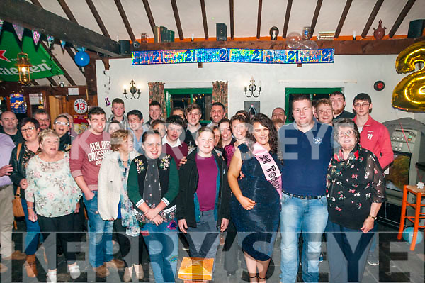 21st Birthday: Deanna Healy, Ballylongford celebrating her 21st birthday with family & friends at the Thatch Bar, Liselton on Saturday night last.