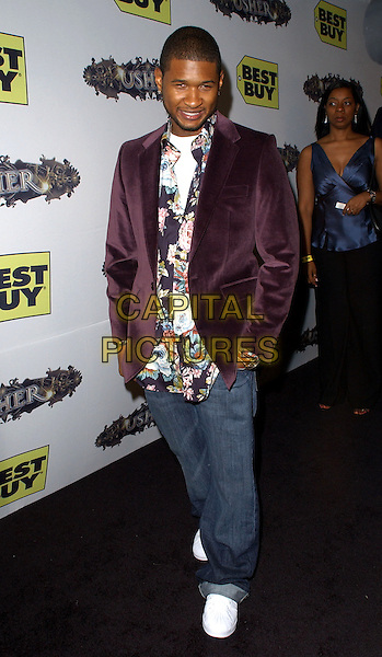 "USHER RAYMOND.Usher's DVD Launch Party for his ""Truth Tour"" held at The Roosevelt Hotel in Hollywood, California .October 17th, 2005.Ref: DVS.full length purple jacket jeans denim hands in pockets.www.capitalpictures.com.sales@capitalpictures.com.Supplied By Capital PIctures"