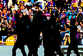 18th March 2018, Camp Nou, Barcelona, Spain; La Liga football, Barcelona versus Athletic Bilbao; shadows of FC Barcelona players celebrating the goal from Paco Alcacer for 1-0 in 8th minute