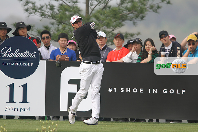 Adam Scott (AUS) on the 11th on Day 4 of the Ballantines Championship 2012 at Blackstone Golf Course, Icheon, Korea...(Photo Jenny Matthews/www.golffile.ie)