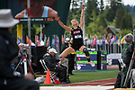 EUGENE, OR - JUNE 10: Holly Hankenson of Louisville University competes in the long jump as part of the Heptathlon during the Division I Women's Outdoor Track & Field Championship held at Hayward Field on June 10, 2017 in Eugene, Oregon. (Photo by Jamie Schwaberow/NCAA Photos via Getty Images)