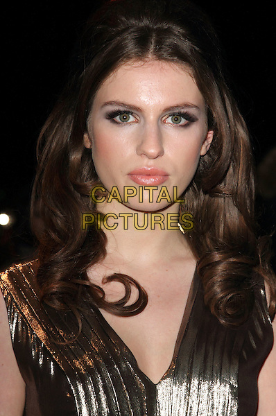 Tali Lennox.Arrivals at the British Fashion Awards held at the Savoy Hotel, London, England..November 28th 2011.headshot portrait gold metallic .CAP/ROS.©Steve Ross/Capital Pictures
