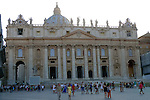 St Peter's in the Vatican district of Rome.