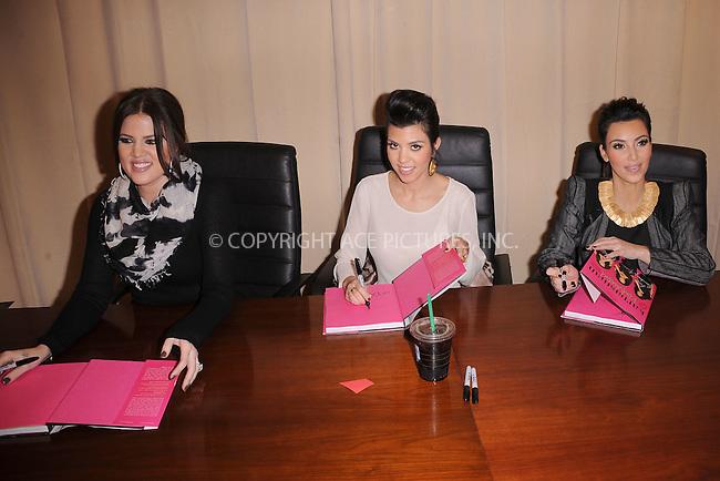 WWW.ACEPIXS.COM . . . . . .November 30, 2010...New York City....Khloe Kardashian, Kourtney Kardashian and Kim Kardashian sign copies of Kardashian Konfidential at Barnes and Noble on November 30, 2010 in New York City....Please byline: KRISTIN CALLAHAN - ACEPIXS.COM.. . . . . . ..Ace Pictures, Inc: ..tel: (212) 243 8787 or (646) 769 0430..e-mail: info@acepixs.com..web: http://www.acepixs.com .