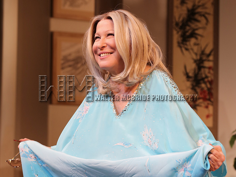 Bette Midler as Sue Mengers during the Curtain Call for the Broadway Opening Night Performance of 'I'll Eat You Last' at the Booth Theatre in New York City on 4/24/2013