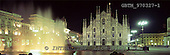 Tom Mackie, LANDSCAPES, panoramic, photos, Duomo by Night, Milan, Italy, GBTM970327-1,#L#
