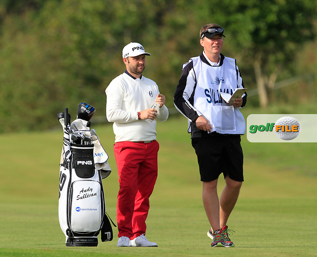 Andy Sullivan (ENG) on the 2nd fairway during Round 4 of the 2015 KLM Open at the Kennemer Golf &amp; Country Club in The Netherlands on 13/09/15.<br /> Picture: Thos Caffrey   Golffile