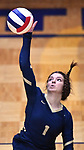 Althoff player Katie Wemhoener hits the ball over. Althoff lost to Minooka in the championship game of the O'Fallon Class 4A volleyball sectional at O'Fallon HS in O'Fallon, IL on November 6, 2019.<br /> Tim Vizer/Special to STLhighschoolsports.com