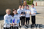 Pupils of Ardfert NS who were Primary National Winners in SEAI ONE GOOD IDEA competition and overall winners in the primary section. Frob=nt dara McElligott and Lilly Nowak. Back l-r: Ellie McCarthy,Ainle Foley,Rachel O'Connor,Liam Og O'Connor and their teacher Marie O'Connell.